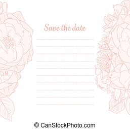 Monochrome Save the Date Invitation - Save the Date vertical...