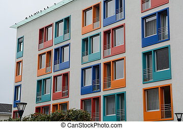 colorful windows in the house