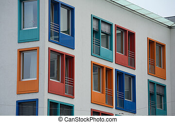 colorful windows bring life