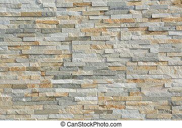 Stone wall with natural stones - Natursteine bilden Muster...