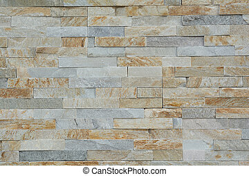 Stone wall with natural stones - Steinmauer mit glatten...
