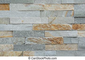Stone wall with natural stones - Natursteine bilden eine...