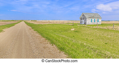 Old Country Church - Dirt road by a small old country church...