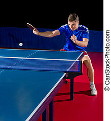 Table tennis player - Young table tennis player isolated
