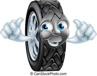 Cartoon tire mascot - An illustration of a cartoon tire tyre...