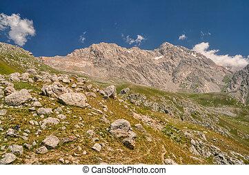 Kyrgyzstan - Picturesque mountain range in Kyrgyzstan