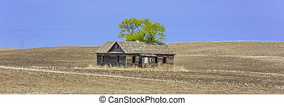 Abandoned Old Farm House - Abandoned old farm house on an...