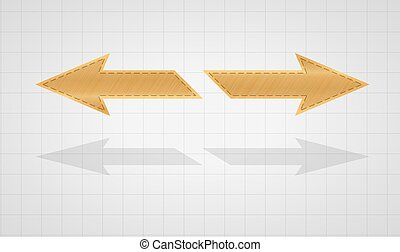 two inverse gold arrows - two gold inverse arrows on graph...