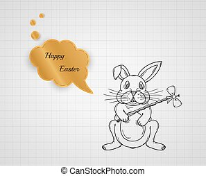 happy easter with bunny