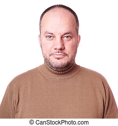 middle aged man with neutral but friendly expression