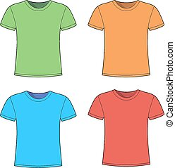 T shirts template Clip Art Vector Graphics. 10,151 T shirts ...