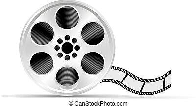 Realistic reel of film. Illustratio