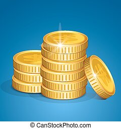 Stack of coins - vector money
