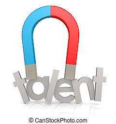 Magnet and talent word image with hi-res rendered artwork...