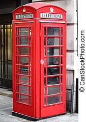 The typical London red telephone booth