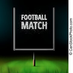 Football Match - American football match, eps 10