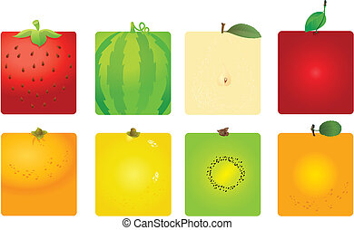 Cute fruit backgrounds