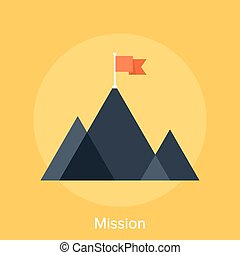 Mission - Vector illustration of mission flat design concept...