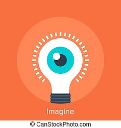 Imagine - Vector illustration of imagine flat design concept...