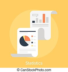 Statistics - Vector illustration of statistics flat design...