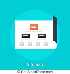 Sitemap - Vector illustration of sitemap flat design...