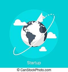 Startup - Vector illustration of startup flat design concept...