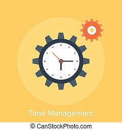 Time Management - Vector illustration of time management...