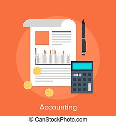 Accounting - Vector illustration of accounting flat design...
