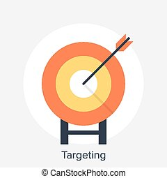 Targeting - Vector illustration of targeting flat design...