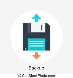 Backup - Vector illustration of backup flat design concept.