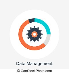 Data Management - Vector illustration of data management...