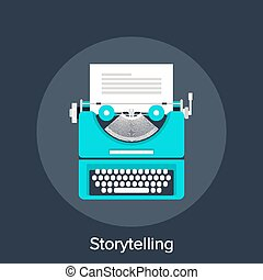 Storytelling - Vector illustration of storytelling flat...