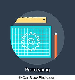 Prototyping - Vector illustration of prototyping flat design...