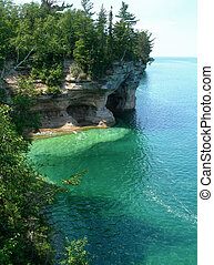 Emerald waters on Lake Superior - Emerald waters at Pictured...