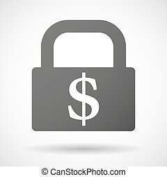 Lock icon with a currency sign