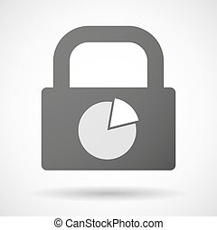 Lock icon with a pie chart
