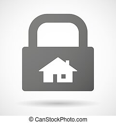 Lock icon with a house