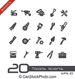 Tools Icons -- Basics - Vector icons for your web or...