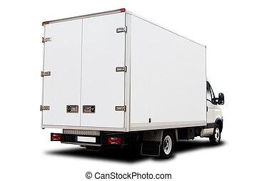 entrega, caminhão