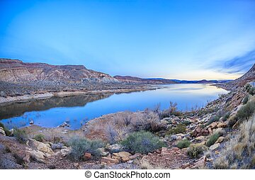 Quail Creek Resevoir - Quail Creek State Park in Utah, USA...