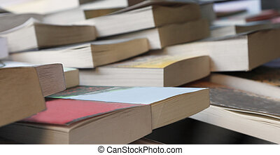 Second hand books - Abstract image of books at the second...