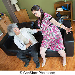 Man Trying to Help Pregnant Woman