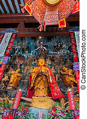 statue in the The Jade Buddha Temple Shanghai China
