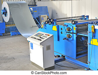 industrial machine for cutting steel sheets