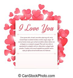 Love Letter - Love letter with flying hearts on bright...