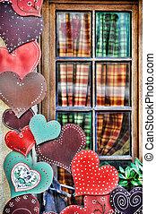 Exterior house decoration hearts - Exterior house decoration...