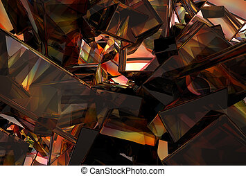 3D Abstract Glass Background - 3D abstract glass background