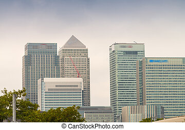 Canary Wharf, financial district of London