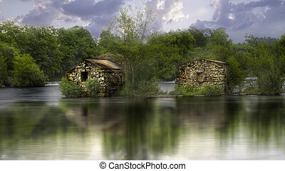 Abandoned water mill