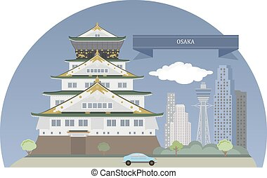 Osaka, Japan. Designated city in the Kansai region of Japan